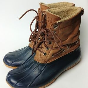 Sperry rain / duck boots with sherpa interior